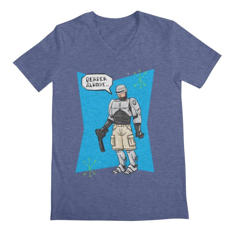 RoboClerp (Ermagerd robots wearing cargo shorts) Men's Regular V-Neck by Blasto's Artist Shop
