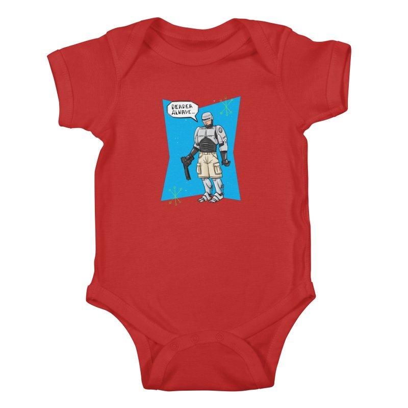 RoboClerp (Ermagerd robots wearing cargo shorts) Kids Baby Bodysuit by Blasto's Artist Shop
