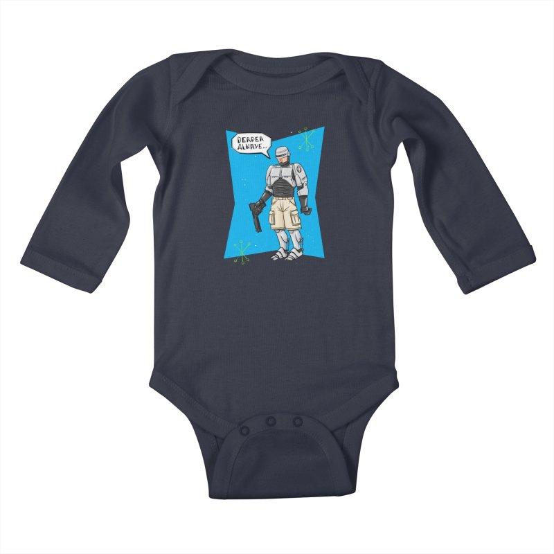 RoboClerp (Ermagerd robots wearing cargo shorts) Kids Baby Longsleeve Bodysuit by Blasto's Artist Shop