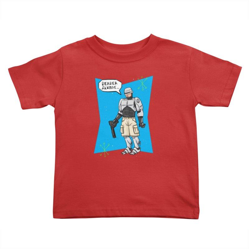 RoboClerp (Ermagerd robots wearing cargo shorts) Kids Toddler T-Shirt by Blasto's Artist Shop