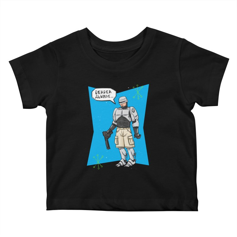 RoboClerp (Ermagerd robots wearing cargo shorts) Kids Baby T-Shirt by Blasto's Artist Shop