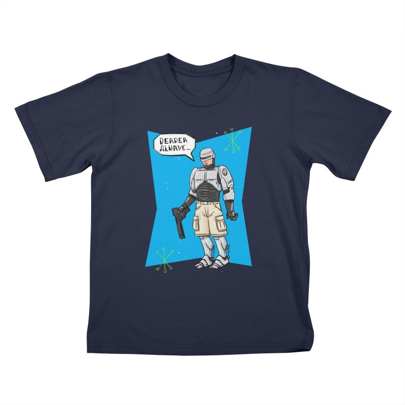 RoboClerp (Ermagerd robots wearing cargo shorts) Kids T-Shirt by Blasto's Artist Shop