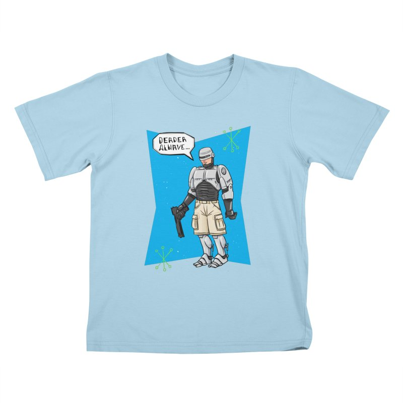 RoboClerp (Ermagerd robots wearing cargo shorts) Kids T-Shirt by Blasto's Artist Shop