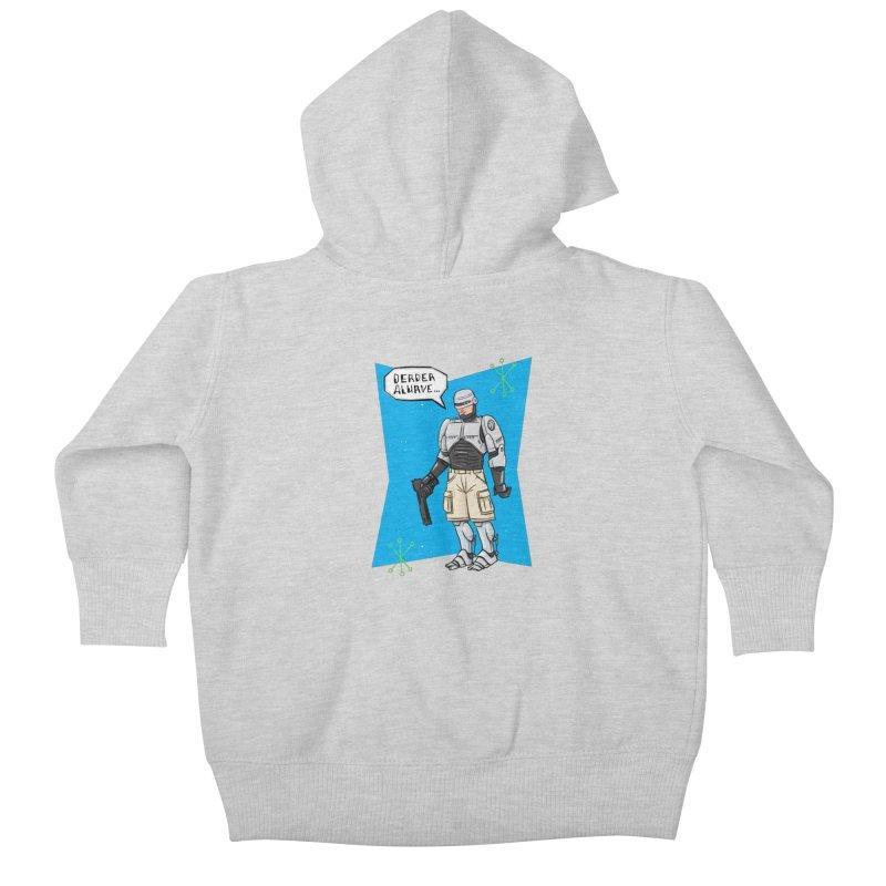 RoboClerp (Ermagerd robots wearing cargo shorts) Kids Baby Zip-Up Hoody by Blasto's Artist Shop