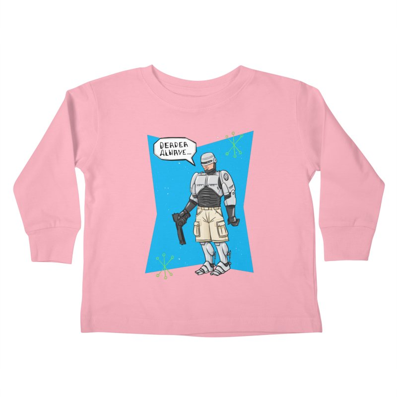 RoboClerp (Ermagerd robots wearing cargo shorts) Kids Toddler Longsleeve T-Shirt by Blasto's Artist Shop