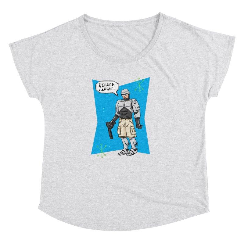 RoboClerp (Ermagerd robots wearing cargo shorts) Women's Dolman Scoop Neck by Blasto's Artist Shop
