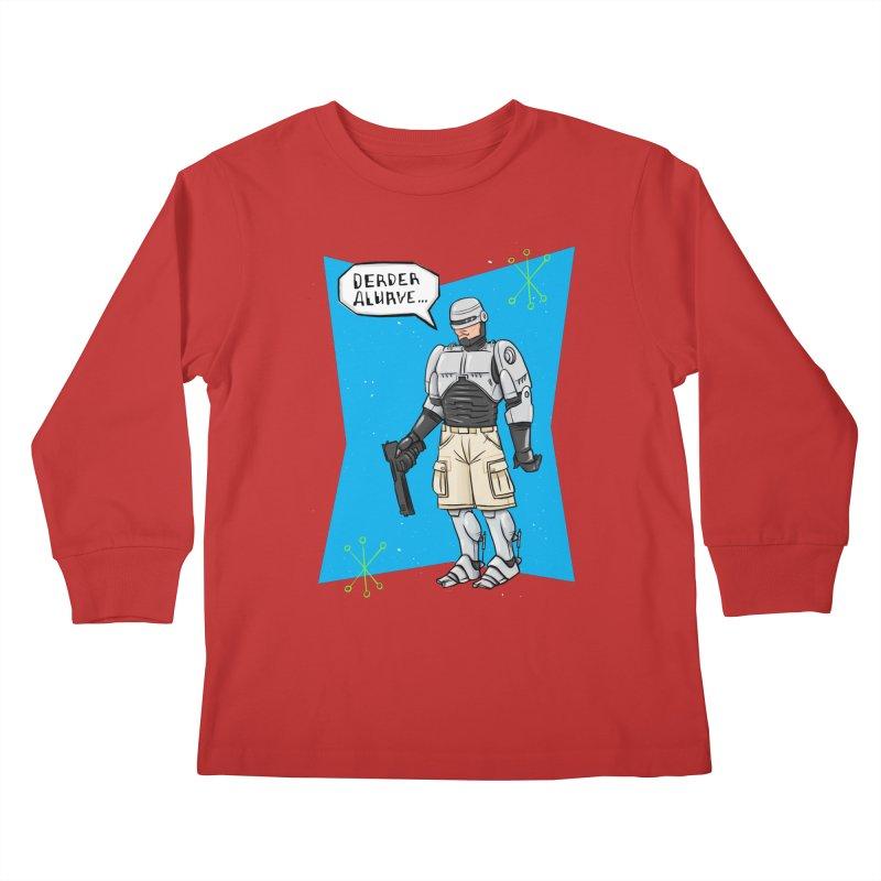 RoboClerp (Ermagerd robots wearing cargo shorts) Kids Longsleeve T-Shirt by Blasto's Artist Shop