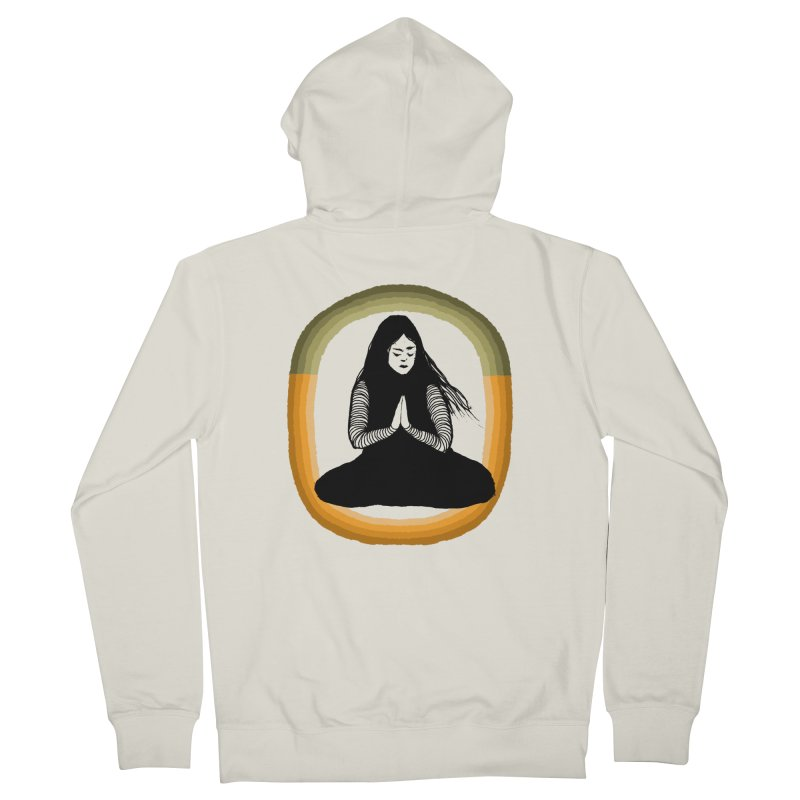 Hope in Men's French Terry Zip-Up Hoody Heather Oatmeal by Blind The Sun's Shop