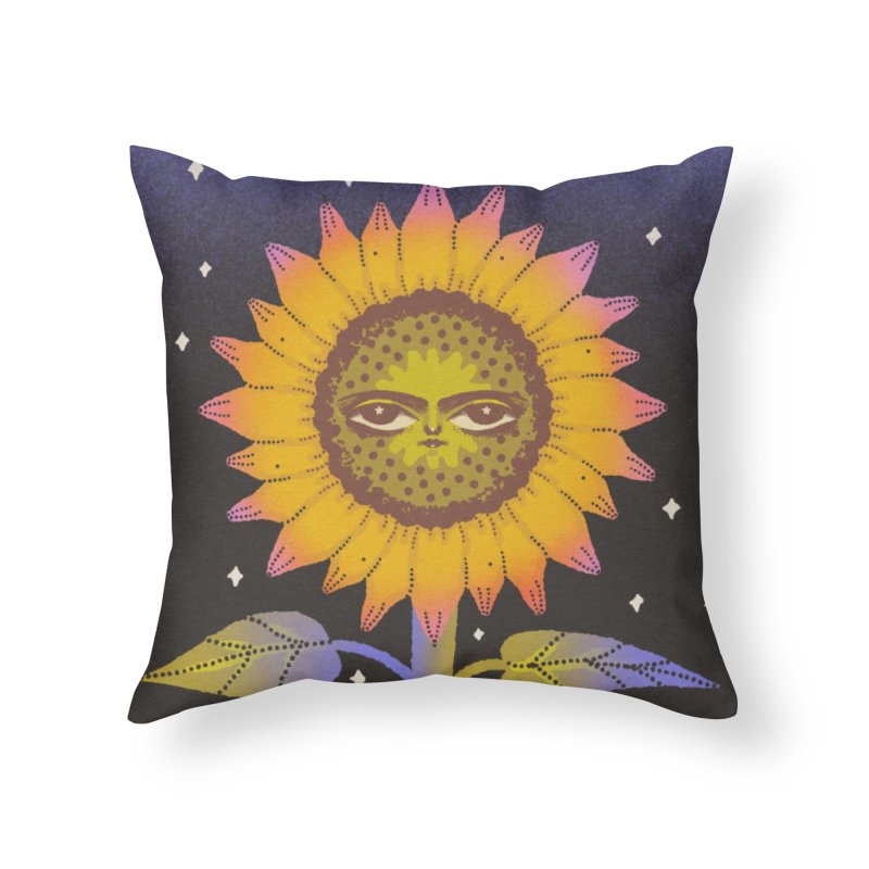 solstice bloom Home Throw Pillow by Blind The Sun's Shop
