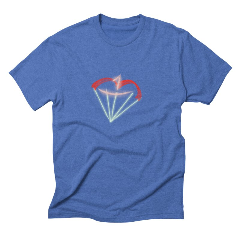 1Kiss Logo Men's Triblend T-shirt by blinkkittylove's Artist Shop