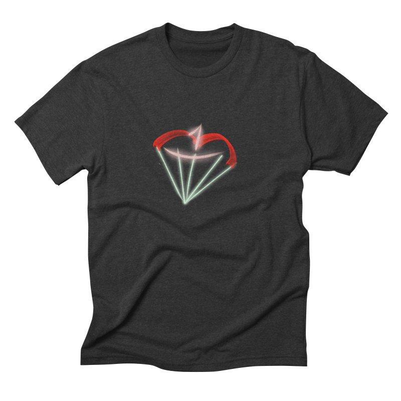 1Kiss Logo Men's Triblend T-shirt by blinkkittylove's Artist Shop