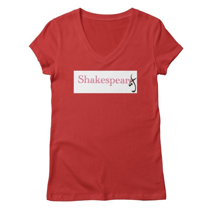 ShakespeareAF Women's V-Neck by blinkkittylove's Artist Shop