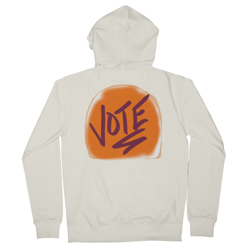 Peanut Butter and Vote... Men's Zip-Up Hoody by blinkkittylove's Artist Shop