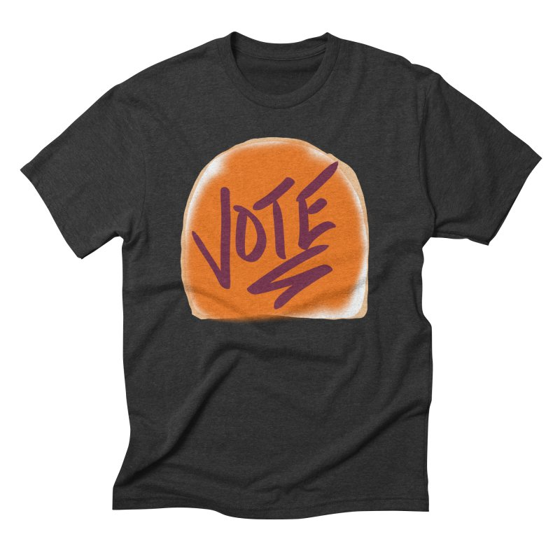 Peanut Butter and Vote... Men's Triblend T-Shirt by blinkkittylove's Artist Shop