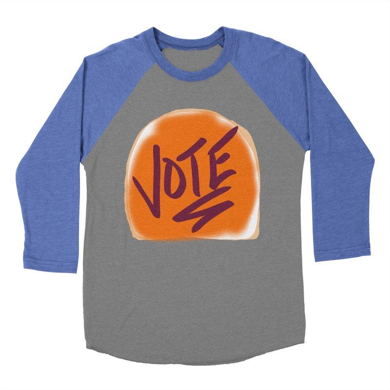 Peanut Butter and Vote... Women's Baseball Triblend T-Shirt by blinkkittylove's Artist Shop