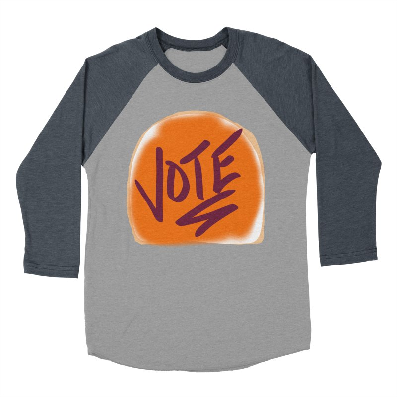 Peanut Butter and Vote... Men's Baseball Triblend T-Shirt by blinkkittylove's Artist Shop