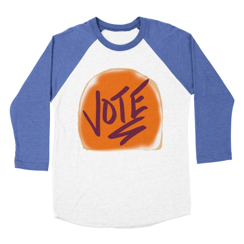 Peanut Butter and Vote... Men's Baseball Triblend T-Shirt by blinkkittylove's Artist Shop