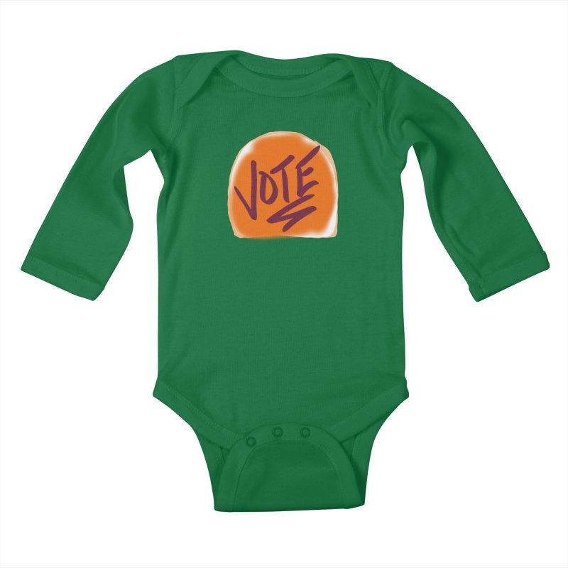 Peanut Butter and Vote... Kids Baby Longsleeve Bodysuit by blinkkittylove's Artist Shop