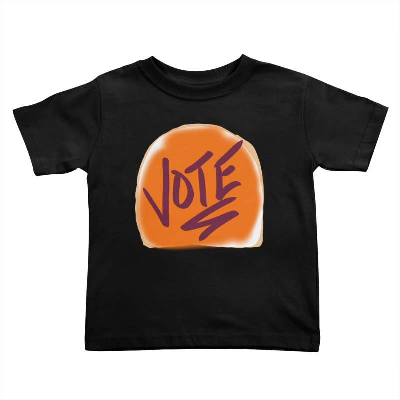 Peanut Butter and Vote... Kids Toddler T-Shirt by blinkkittylove's Artist Shop