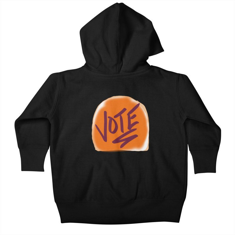Peanut Butter and Vote... Kids Baby Zip-Up Hoody by blinkkittylove's Artist Shop