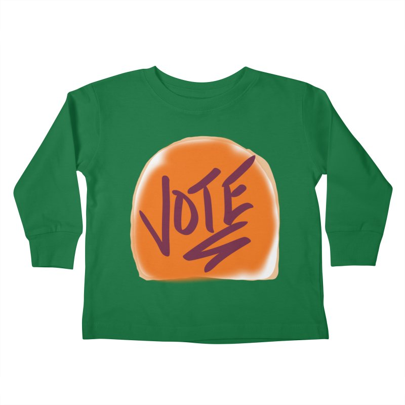 Peanut Butter and Vote... Kids Toddler Longsleeve T-Shirt by blinkkittylove's Artist Shop