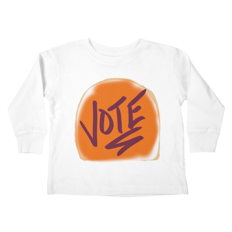 Peanut Butter and Vote... Kids Toddler Longsleeve T-Shirt by blinkkittylove's Artist Shop