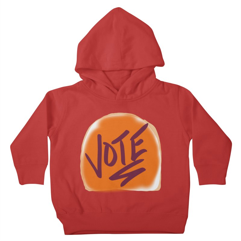 Peanut Butter and Vote... Kids Toddler Pullover Hoody by blinkkittylove's Artist Shop
