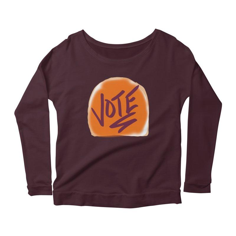 Peanut Butter and Vote... Women's Longsleeve Scoopneck  by blinkkittylove's Artist Shop