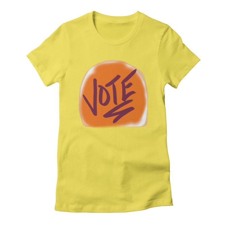 Peanut Butter and Vote... Women's Fitted T-Shirt by blinkkittylove's Artist Shop
