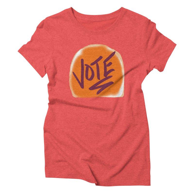 Peanut Butter and Vote... Women's Triblend T-Shirt by blinkkittylove's Artist Shop