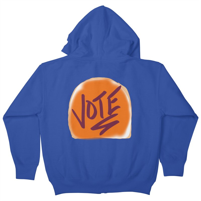 Peanut Butter and Vote... Kids Zip-Up Hoody by blinkkittylove's Artist Shop