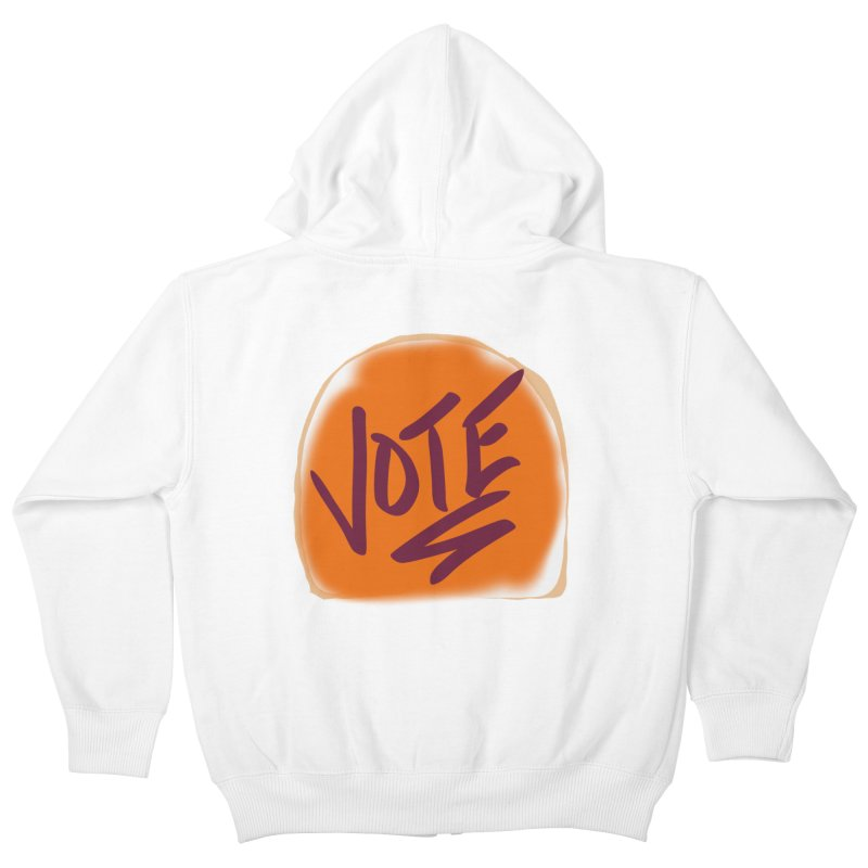Peanut Butter and Vote... Kids Zip-Up Hoody by blinkkittylove's Artist Shop