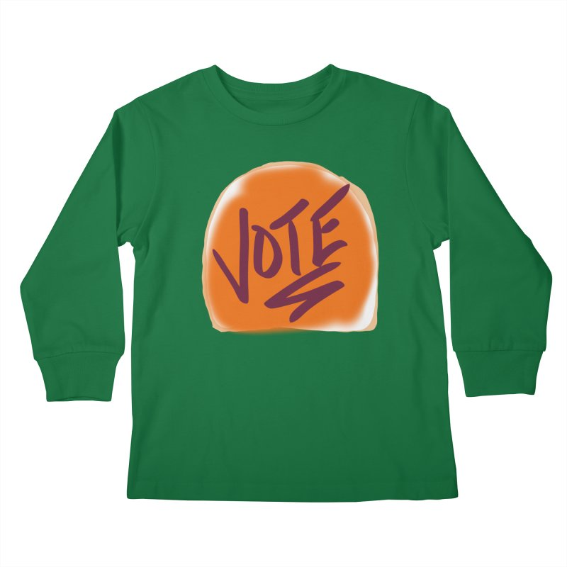 Peanut Butter and Vote... Kids Longsleeve T-Shirt by blinkkittylove's Artist Shop
