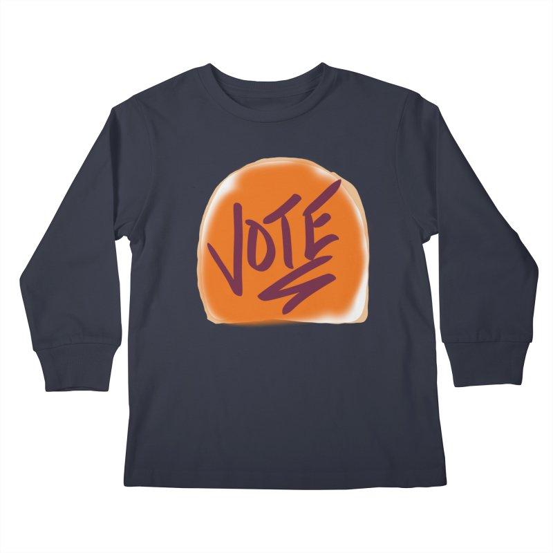 Peanut Butter and Vote... Kids Longsleeve T-Shirt by blinkkittylove's Artist Shop