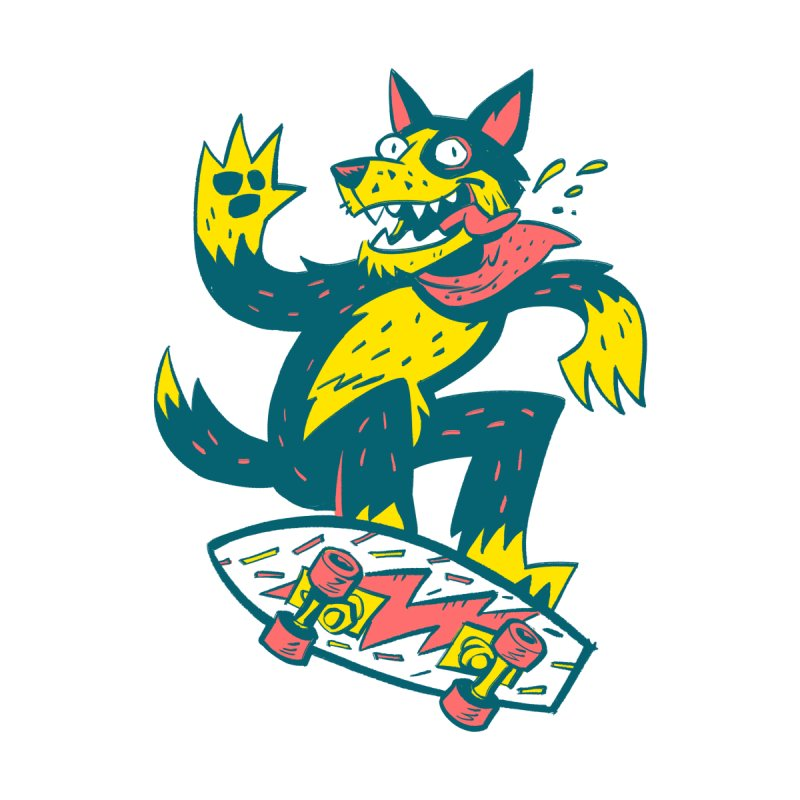 RAD DOG Men's T-Shirt by BLITZ CADET Artist Shop