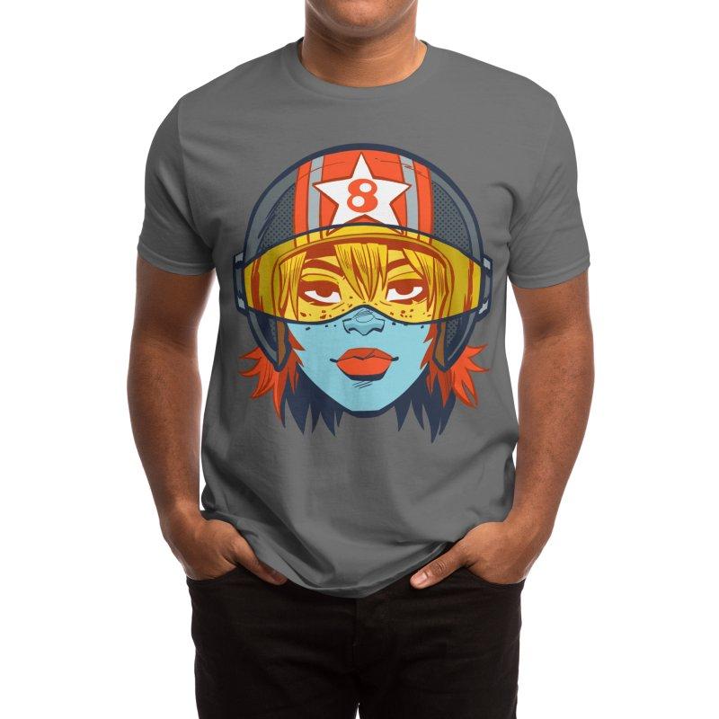 RACER 8 Men's T-Shirt by BLITZ CADET Artist Shop