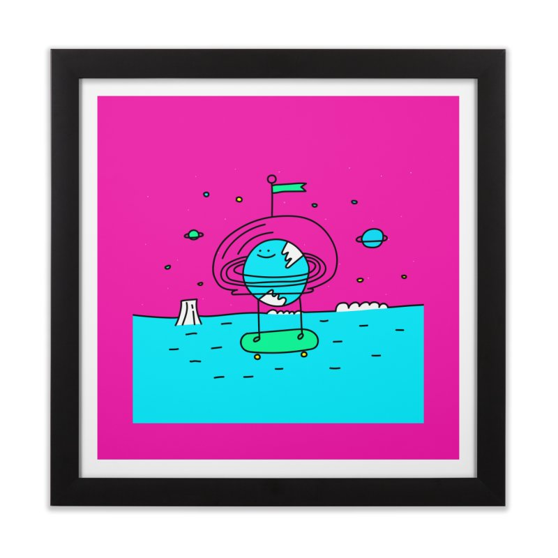 Surreal Planet - Mr Beaker Home Framed Fine Art Print by Porky Roebuck