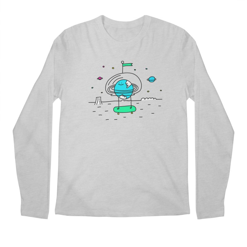 Surreal Planet - Mr Beaker Men's Longsleeve T-Shirt by Porky Roebuck