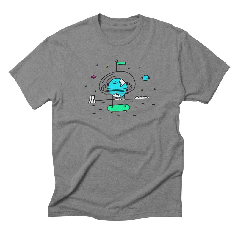 Surreal Planet - Mr Beaker Men's Triblend T-shirt by Porky Roebuck