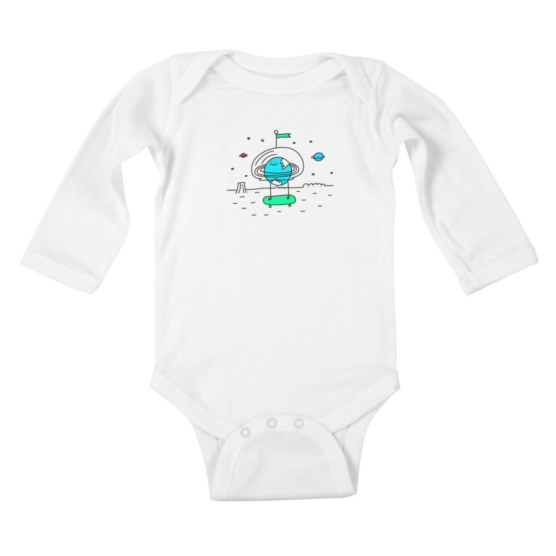 Surreal Planet - Mr Beaker Kids Baby Longsleeve Bodysuit by Porky Roebuck