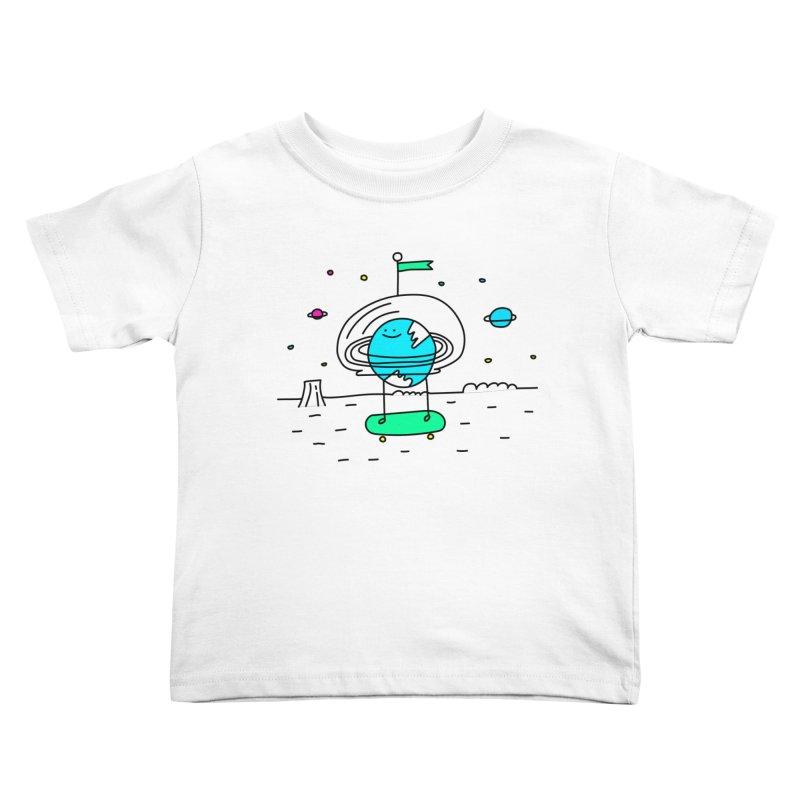 Surreal Planet - Mr Beaker Kids Toddler T-Shirt by Porky Roebuck