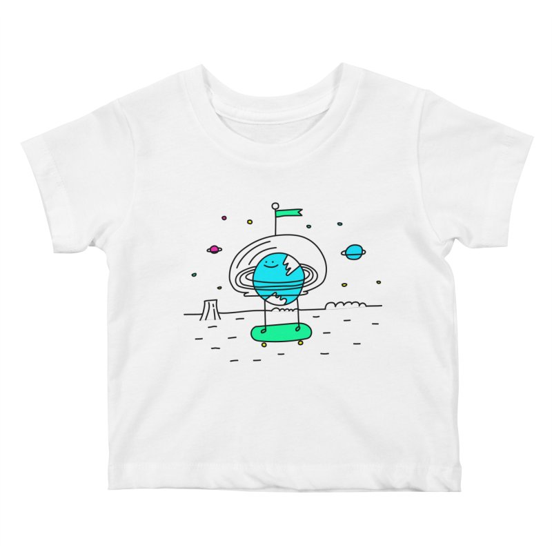 Surreal Planet - Mr Beaker Kids Baby T-Shirt by Porky Roebuck