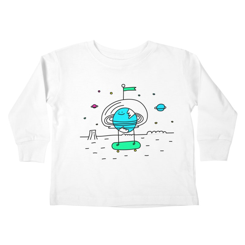Surreal Planet - Mr Beaker Kids Toddler Longsleeve T-Shirt by Porky Roebuck