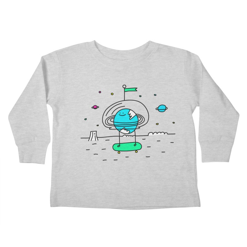 Surreal Planet - Mr Beaker Kids Toddler Longsleeve T-Shirt by Porky Roebuck