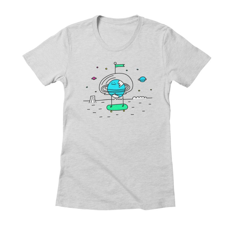 Surreal Planet - Mr Beaker Women's Fitted T-Shirt by Porky Roebuck
