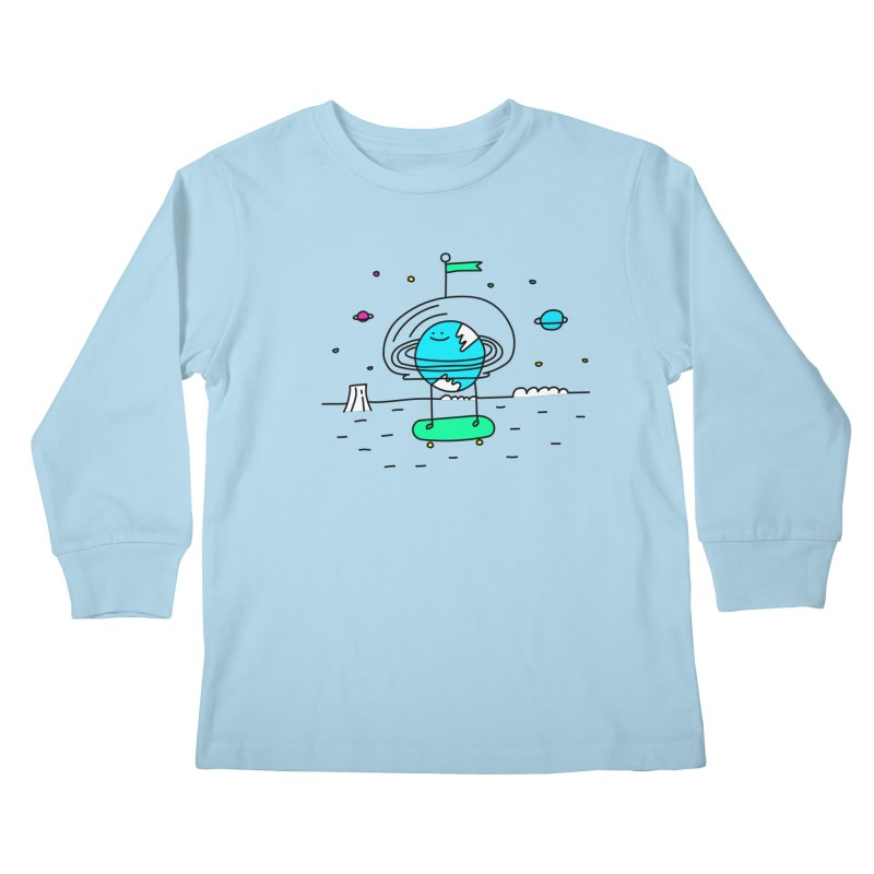 Surreal Planet - Mr Beaker Kids Longsleeve T-Shirt by Porky Roebuck