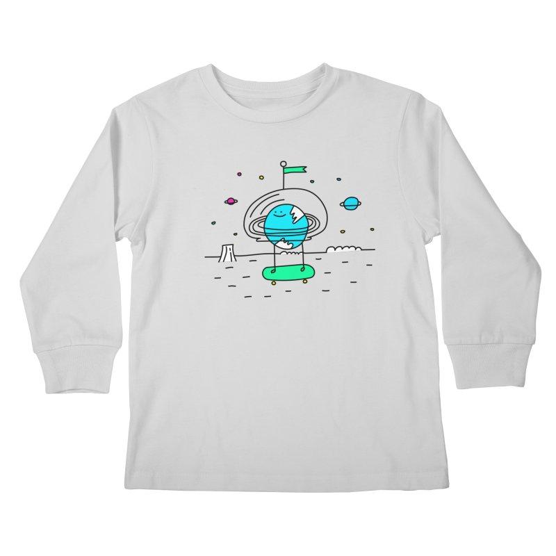 Surreal Planet - Mr Beaker Kids Longsleeve T-Shirt by Porky Roebuck