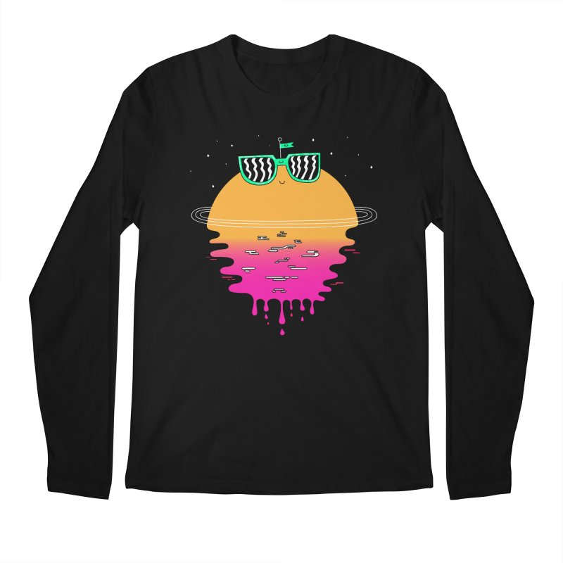Happy Sunset Men's Longsleeve T-Shirt by Porky Roebuck