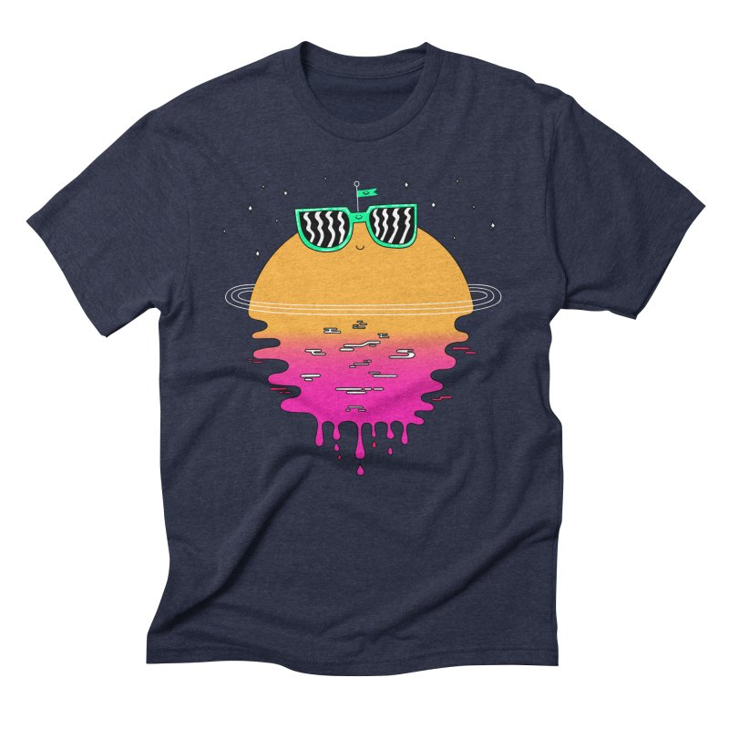Happy Sunset Men's Triblend T-shirt by Porky Roebuck