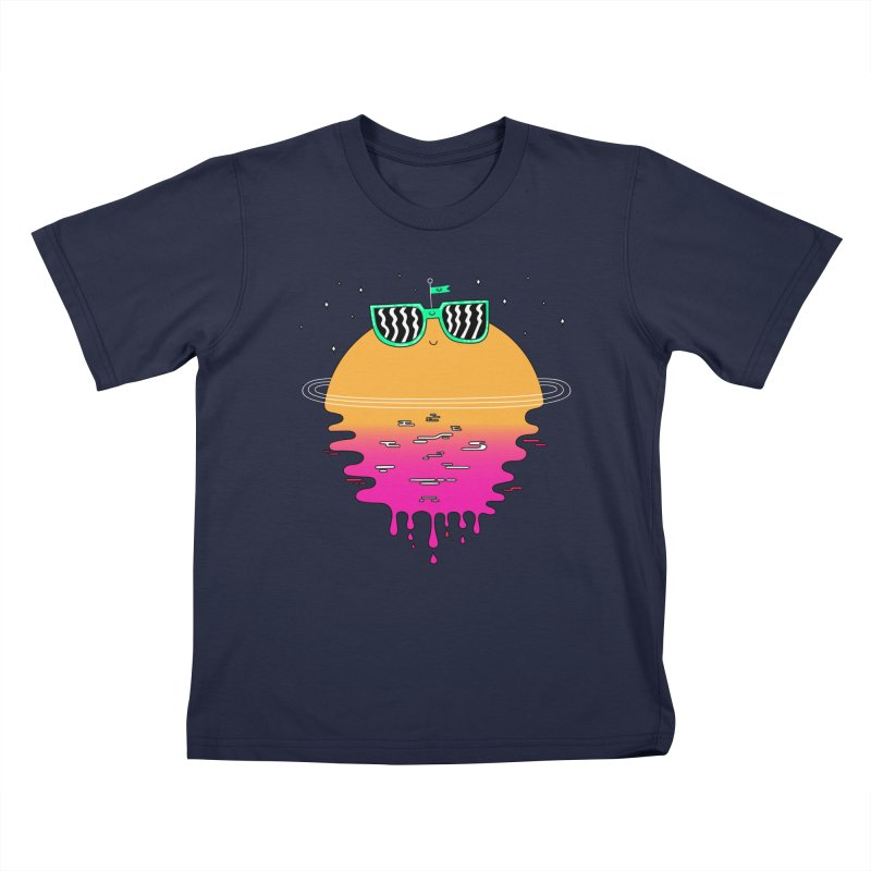 Happy Sunset Kids T-shirt by Porky Roebuck